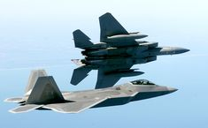 F-15 Eagle Banking Away From F-22 Raptor