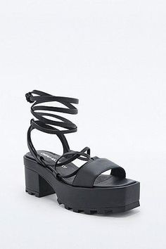 Cheap Monday Trapped Tied Sandal Shoes in Black #shoes #cheapmonday #designer #covetme  #blogger