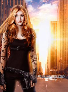 Shadowhunters (ABC Family): Clary Fray (Fanmade poster)