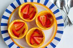 Paleo Desserts - Orange & Strawberry Jelly Cups