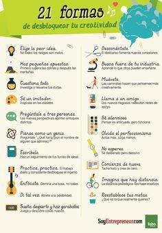 En esta infografía encuentra sencillos consejos que te ayudarán a generar ideas y soluciones a los problemas.