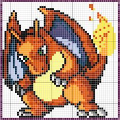 Charizard is probably the most difficult of the patterns that I've done so far. The sprite was particularly blurry with no definitive dark lines, and the play of shadow in the fire was fun, but cha...
