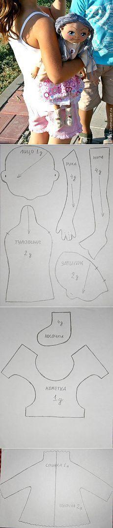 МК Игровая кукла Часть №3 - Выкройка куклы и одежды