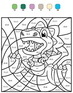 Home Decorating Style 2020 for Coloriage Magique Cp Soustraction, you can see Coloriage Magique Cp Soustraction and more pictures for Home Interior Designing 2020 9873 at SuperColoriage. Dinosaur Worksheets, Math Coloring Worksheets, Kids Math Worksheets, Preschool Activities, Camping Activities, Color By Numbers, Math Addition, Homeschool Math, 2nd Grade Math