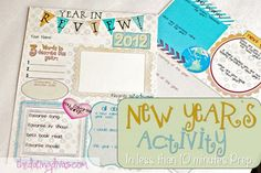 New Year's Eve Activity in less than 10 minutes prep! Free Printable! www.TheDatingDivas.com #newyearsprintable #Newyearsactivity #newyearsideas