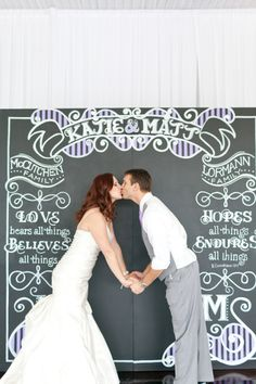 Such a great ceremony and/or photo booth backdrop via Every Last Detail