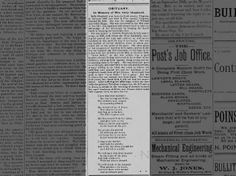 Shepard obituary, Big Stone Gap, Sept. 05, 1890