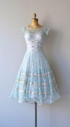 Lace Dress --- Da Capo Aria dress vintage 1950s dress lace 50s by DearGolden