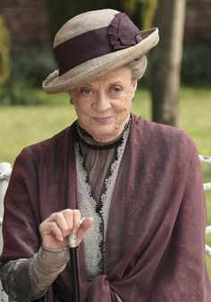 """The Dowager Countess and her demure smile.  """"Vulgarity is no substitute for wit"""" Downton Abbey"""