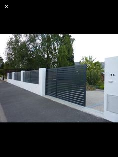 Driveways, Fence Design, Gates, Beautiful Homes, Entrance, Garage Doors, Sidewalk, Deck, Decorating Ideas