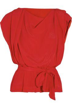 Vivienne Westwood Anglomania Draped crepe top NET-A-PORTER.COM
