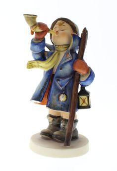 Hummel Goebel Figurine Hear Ye Hear Ye Boy with Horn 15 and Lantern