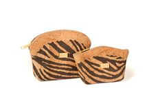 Cork zip coin purse and key holder - TIGER P
