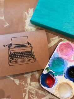 Typewriter Blank Card