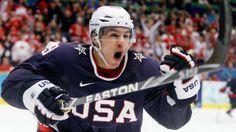 Zach Parise is captain of the U.S. Olympic hockey team