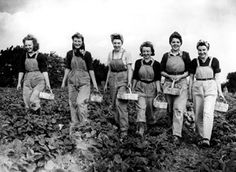 The Women's Land Army (WLA) were commonly known as Land Girls. In forestry, the Women's Timber Corps were known as Lumber Jills. At the height of the WWI the Land Army had a full-time membership of members. The number exceeded during WWII. Vintage Photographs, Vintage Photos, Women's Land Army, Land Girls, Army Girls, Pin Up, 1940s Fashion, Fashion Women, Fashion Trends