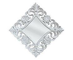 Specchio da parete con cornice floreale intagliata Ivy - 100X100 cm