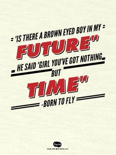 from the song born to fly