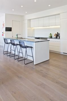 Smartfloor is a thick real wood floor with a wear layer of hardwood timber. Strong and durable, Smartfloor is an engineered flooring type, designed to cope to New Zealand?s fluctuating climat Real Wood Floors, Timber Flooring, Minimal Home, Starter Home, Types Of Flooring, Hardwood, Kitchen, Furniture, Interior Ideas