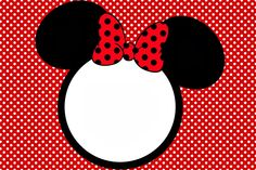 Minnie in Red: Free Printables and Party Invitations. Right click and save as Minnie Mouse Theme Party, Minnie Baby, Mickey Mouse Birthday, Minnie Mouse Stickers, Red Minnie Mouse, Mickey Minnie Mouse, Scrapbook Da Disney, Disney Frames, Party Favor Tags