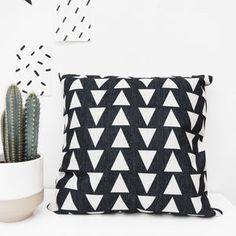 Geometric Monochrome Cushion - new in home
