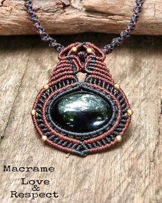Items similar to Black Onyx necklace. Unisex on Etsy Macrame Necklace, Macrame Jewelry, Onyx Necklace, Pendant Necklace, Micro Macrame, Festival Outfits, Black Onyx, Hipster, Quartz