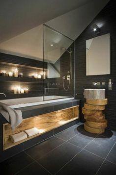 Die 64 Besten Bilder Von Badezimmer In Holz Optik Bath Room Old