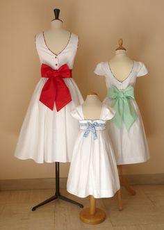 cortèges de mai: robes Hélène et Zoé