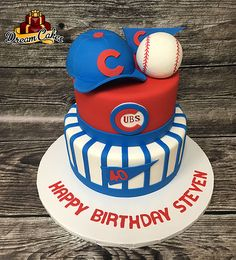 Cubs Cake by Dream Cakes Chicago