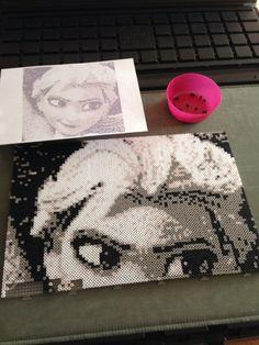 Elsa • perler beads • handmade