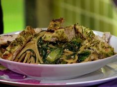 Grilled Chicken with Arugula Pesto Recipe : Rachael Ray : Food Network - FoodNetwork.com