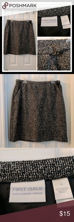 First Issue by Liz Claiborne tweed skirt First Issue by Liz Claiborne tweed skirt, size 14. Very cute and in great condition. First Issue Skirts Midi
