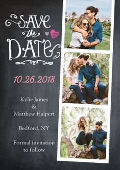Wedding Save the Date Strip