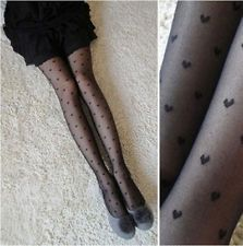 Fashion Pretty Heart Pattern Jacquard Pantyhose Tights Stocking Free Shipping