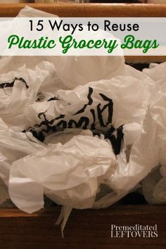 Why throw out your plastic bags when you can reuse them? Here are 15 Creative Ways to Reuse Plastic Grocery Bags that are useful around the house.