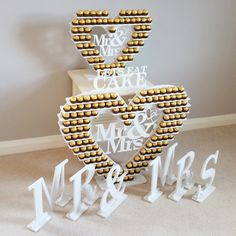Wedding top table Mr & Mrs letters for hire in Yorkshire.
