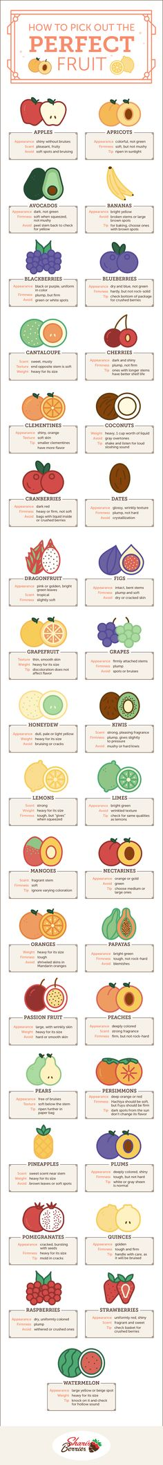 Use this handy guide to figure out exactly how to pick the perfect fruit each and every time. Your taste buds will thank you!
