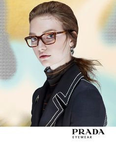Gemma Ward follows up the mainline advertisements for Prada spring 2015 with a campaign for its new Prada Journal eyewear collection. Steven Meisel photographed Gemma for the eyewear shot. The frames feature slim and clean lines with six new styles–three for women and another three for men. A matte etching around the lenses adds ...