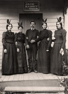 The Jack Rabbit Club....I assume they are the precursors to the playboy bunnies.