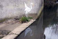 Banksy Origami Crane