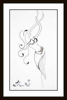 dessin danseuse orientale www.facebook.com/s.liloo