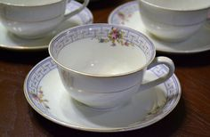 Vintage W H Grindley Co Dinnerware Tea Set Art Deco Shabby Chic England PanchosPorch #etsy  #etsyretwt