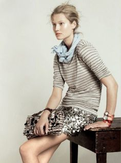 sparkle & stripes via :: http://theneotraditionalist.com & www.jcrew.com