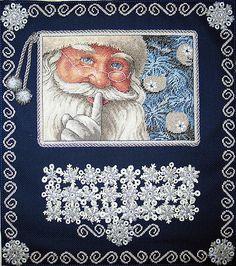Santa's advent calendar cross stitch