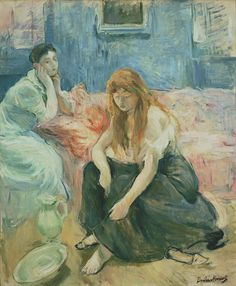 Berthe Morisot - Deux jeunes filles                                                                                                                                                                                 Plus