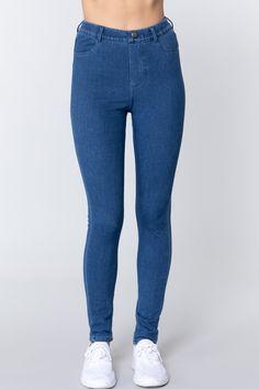 Knit Denim Jeggings   KjSelections Jeggings, Denim Leggings, Online Boutique Stores, Love Jeans, Sexy Jeans, Cotton Textile, Denim Fabric, Light Denim, Blue Denim
