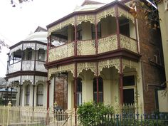 Sister Victorian Terrace Houses - Flemington Melbourne Victoria Australia by raaen99, via Flickr Built between the 1880s and the 1890s.