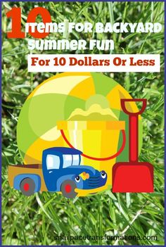Wanting to just enjoy summer just hanging out at home but the kids are begging to go places. Load up the backyard with inexpensive items that will keep them busy.