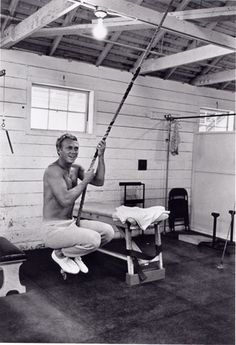 Steve McQueen at Paramount Studios Gym, 1962, by William Claxton