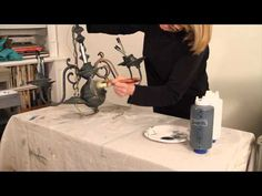 In part 2 of 3 in my Brass Chandelier video series I add Chalk Paint directly to the metal surface to create an old world, vintage, look on an ordinary Chandelier Video, Lampshade Chandelier, Rustic Chandelier, Paint Furniture, Furniture Refinishing, Furniture Projects, Annie Sloan Chalk Paint Projects, Using Chalk Paint, Modern Farmhouse Style